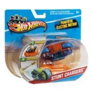 Hot Wheels Stunt Chargers Motorbike Blue & Orange
